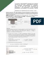 Ejercicio de Disec3b1o a Flexion de Una Viga t EJERCICIO COMPLETO de UNA VIGA T