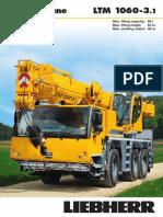 Liebherr LTM 1060-3.1 Mobile Crane_60t_Information