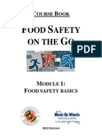 Food Safety on the Go - Module 1 Coursebook