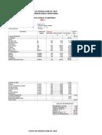 Costo de Produccion de Café