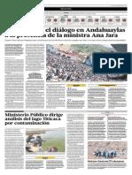 Ministerio Público Dirige Análisis Del Lago Titicaca Por Contaminación