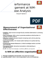 Performance Management at NIM- Case Analysis (2)