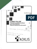ACKLIS- Pruebas de Software