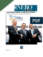 10-03-2015 Dinero en Imagen - Volkswagen Amplía Su Planta en Puebla