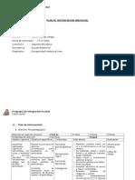 Plan de Intervención modelo
