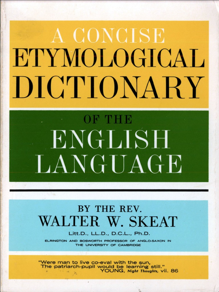 Concise etymological dictionary dictionary english language fandeluxe Choice Image