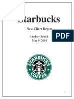 schich starbucks new client report