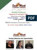St Mark Lutheran Church Revival Flier