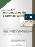 Modelos Matemáticos de Sistemas Térmicos