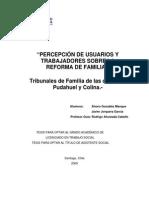 Percepcion de usuarios y trabajadores sobre la reforma de familia. Tribunales de familia de las comunas Pudahuel y Colina.pdf