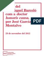 Momtalvo Laudatio Honoris Causa Barcelo