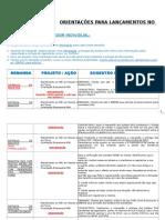 Orientação Para Lançamentos SIAC - UAE02