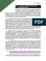 Dissertation Sur Le Juge Administratif Juge Constitutionnel