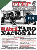 8 de Abril - PARO NACIONAL