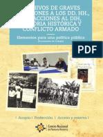 Archivos de graves violaciones a los DDHH. Infracciones al DIH, Memoria Histórica y conflicto.pdf