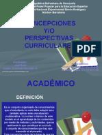 Concepciones y o Perspectivas Curriculares