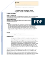 Quality of Life in Long-term Breast Cancer Survivors Scale