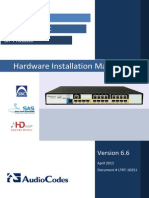 LTRT-10251 Mediant 800 Gateway and E-SBC Hardware Installation Manual Ver. 6.6