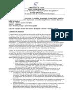 Proposition Postdoctorat Publiée
