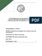 Análisis de Los Lenguajes Masivos de Comunicación Cátedra B Pardo