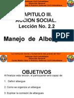 2.1.  CAPITULO III. ACCION SOCIAL. Lección No. 2.2.  Albergues (1).pptx
