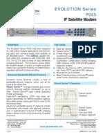 Paradise Datacom PD55 Evolution if Satellite Modem Data Sheet 205083 RevK