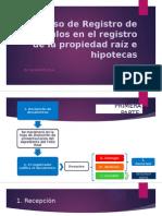 Proceso de Registro de Títulos en El Registro