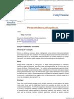 PERSONALIDAD PSICOPÁTICA. Conferencia