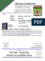 Jodo Mission of Hawaii Bulletin - April 2015