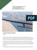 Solar-Flieger Gestartet