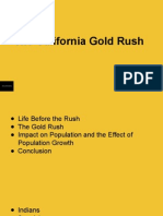 Impact of the California Gold Rush