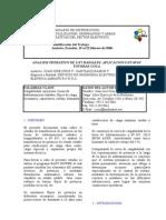 Análisis Operativo Linea Totoras Coca