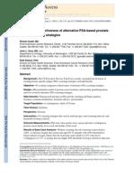 Comparative Effectiveness of Alternative PSA-based Prostate Cancer Screening Strategies