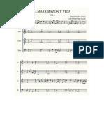Armonización a Cuatro Voces Score