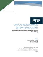 Critical Review Pengelolaan Sistem Transportasi di Kota Padang