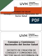 Consejos y Comisiones Nacionales Del Sector Salud
