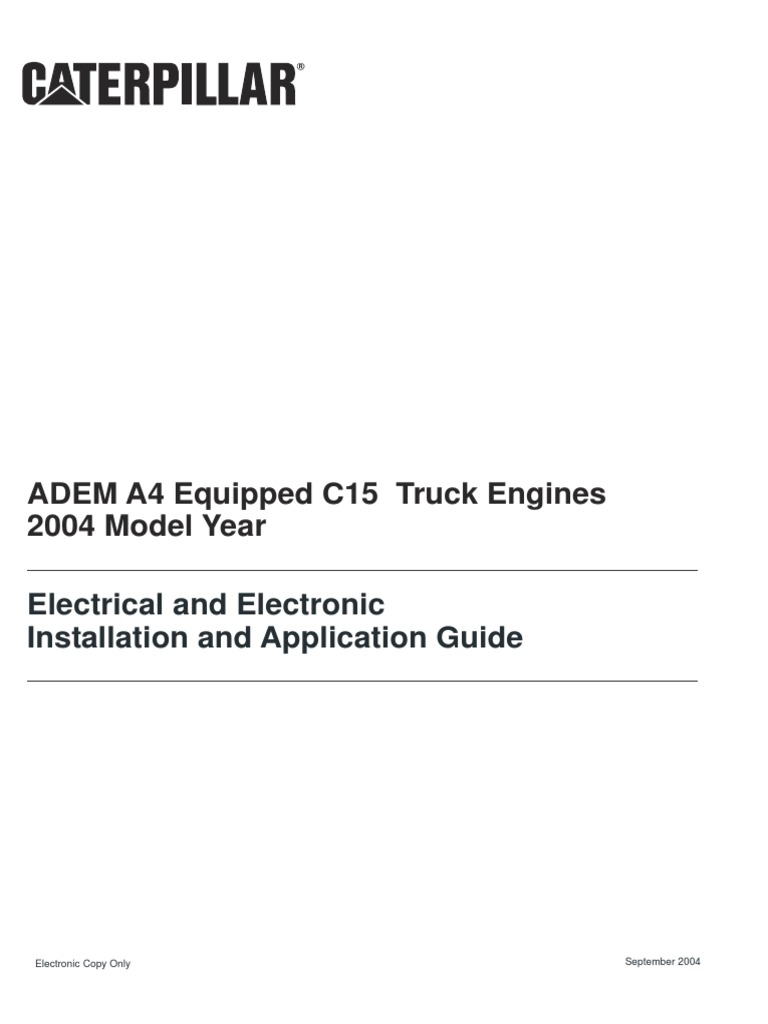 adem a4 equipped c15 truck engines _ electrical and electronic installation  and application guide _ caterpillar pdf | throttle | turbocharger