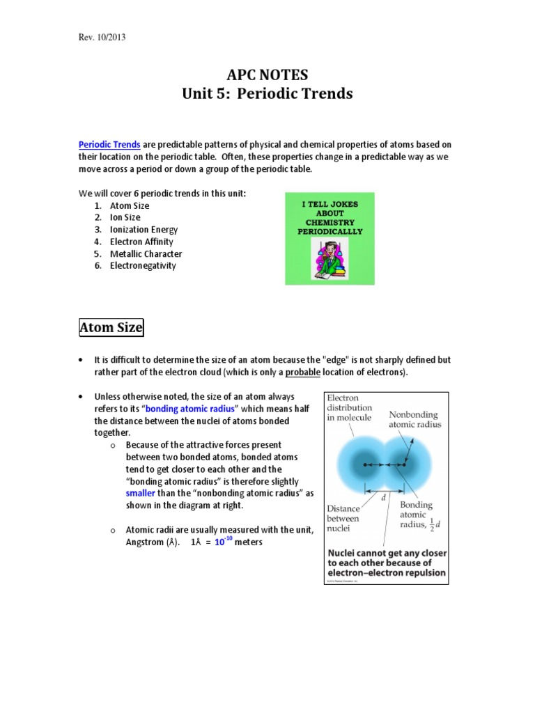 Notes 2 periodic trends t 2 ion chemical bond gamestrikefo Image collections