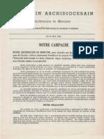 Bulletin - Archidiocèse de Moncton - 30 mai 1948