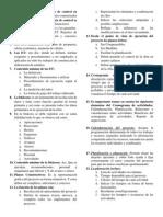 Cuestionario de Administración de Obras