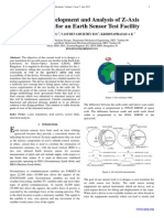 Design, Development and Analysis of Z-Axis Translation for an Earth Sensor Test Facility