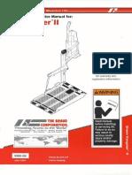 Manual para maquinaria  para personas con plataformas