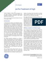 silica pre-treatment