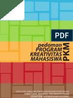 Pedoman Program Kreativitas Mahasiswa 2010