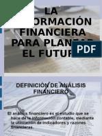 La Informacion Financiera Para Planear El Futuro