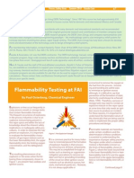 Flammability Testing at Fai