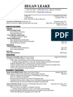 present teaching resume 2015