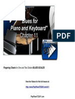 Blues 11 Fingering Charts One and Two Octave Blues Scales