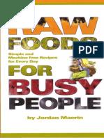 Jordan Maerin - Raw Foods for Busy People