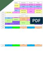 timetable term 1 2015